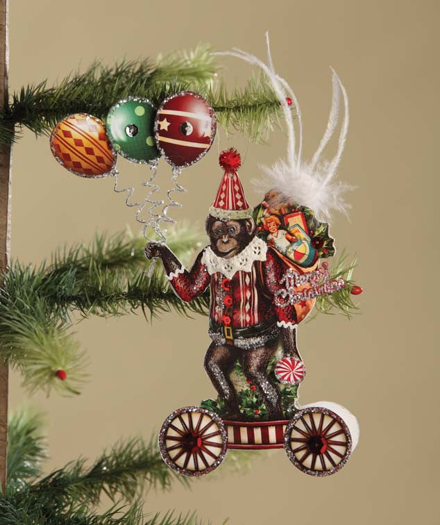 Scrapbook Monkey Ornament