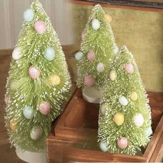 Easter Egg Bottle Brush Trees