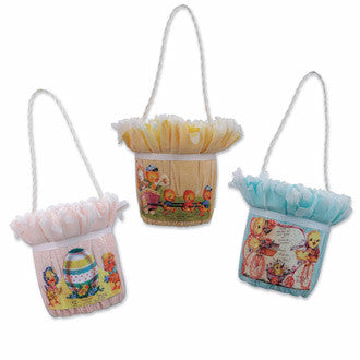1940's Easter Candy Buckets - Bethany Lowe Vintage Easter Decorations