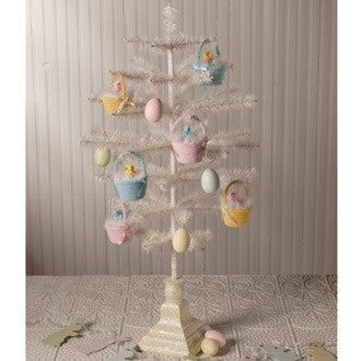 Vintage Egg Shaped Feather Tree