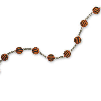 Black and Orange Ball Garland