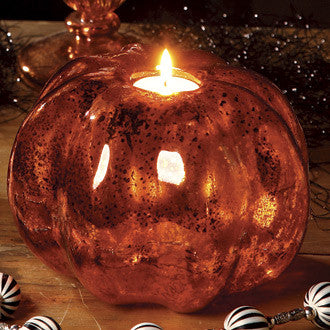 Mercury Glass Pumpkin Votive