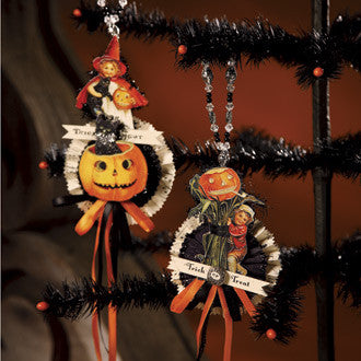 Large Trick or Treat Ornaments