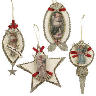 Vintage Die-Cut Angel Ornaments