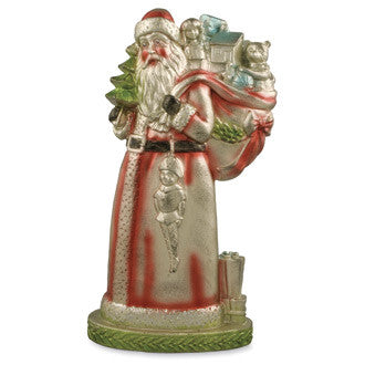 Large Metallic Santa