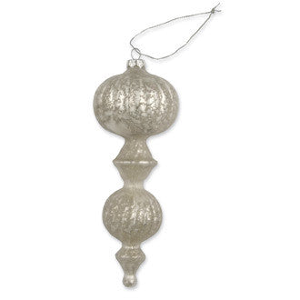 Pearl Glass Ribbed Finial