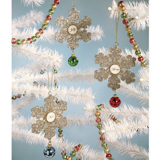 Merry Snowflake Ornaments