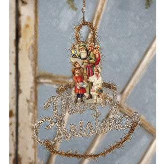 Merry Christmas Santa Scrap Ornament