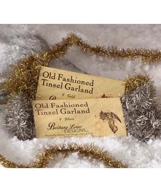 Old Fashioned Tinsel Garland - Gold