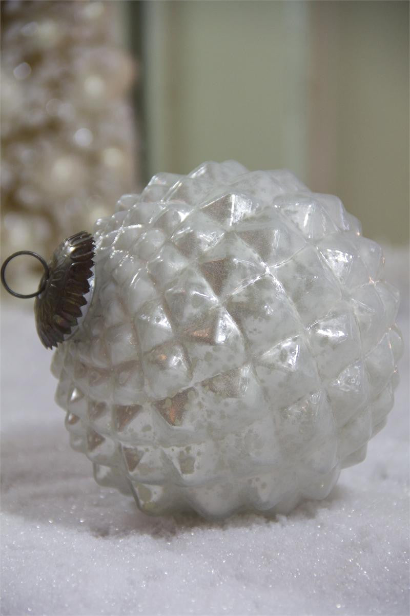 Textured Pearl Ornament