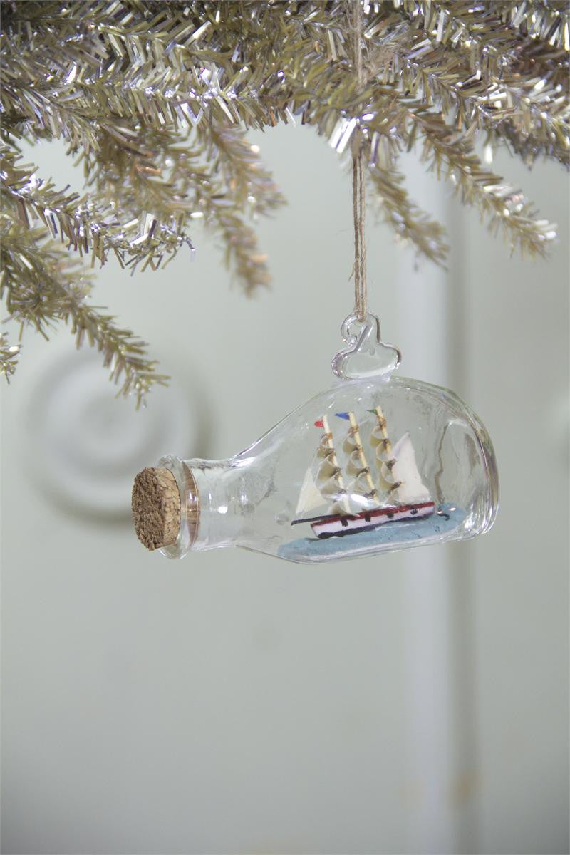 Bottle Ship Ornament