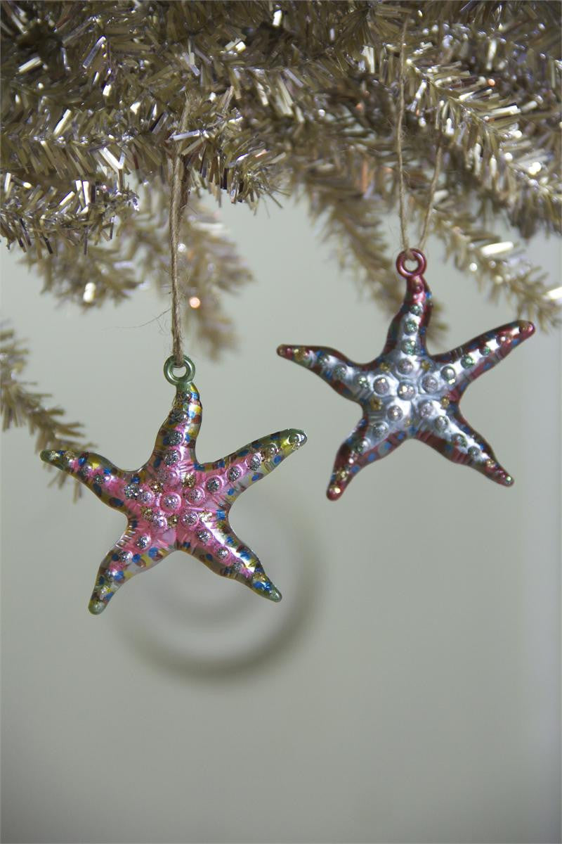 Glitter Starfish Ornaments