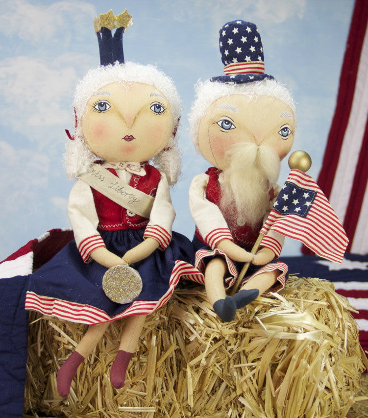 Joe SPencer Samuel Liberty & Little Miss Liberty Dolls