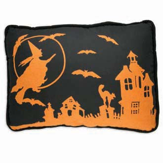 Flying Witch Pillow