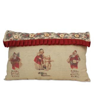 Linen Christmas Pillow