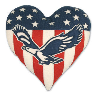 Americana Heart Pillow