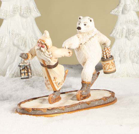 Santa and Polar Bear Skating