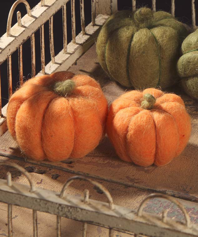 Orange Wool Pumpkins