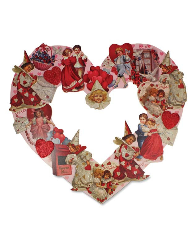 Valentine Die Cut Wreath