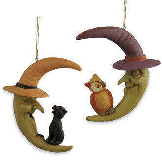 Crescent Witch Moon Ornaments