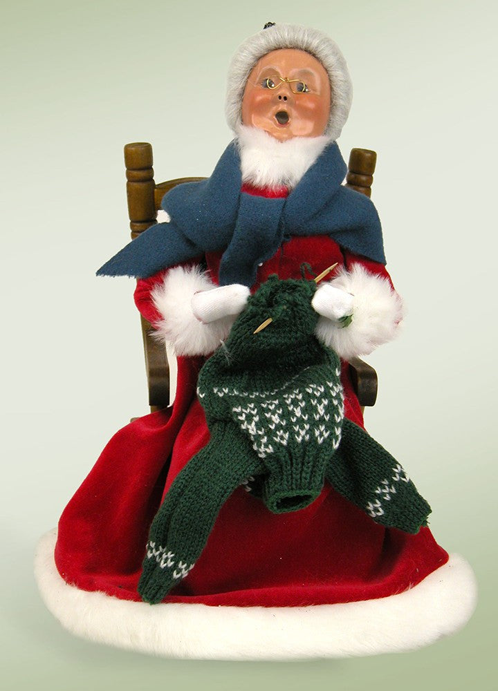 Red Velvet Mrs. Claus Knitting