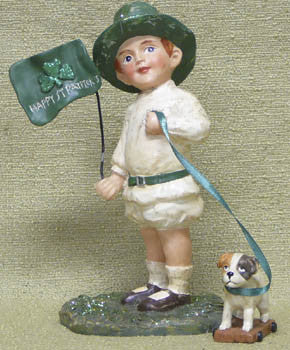 St. Pat's Boy with Dog Cart