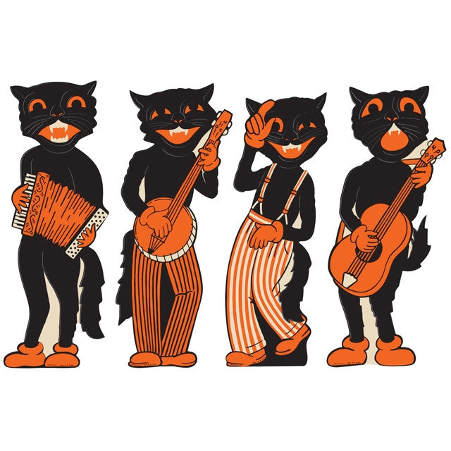 Scat Cat Band Halloween Cutouts | Retro Halloween Decor ...