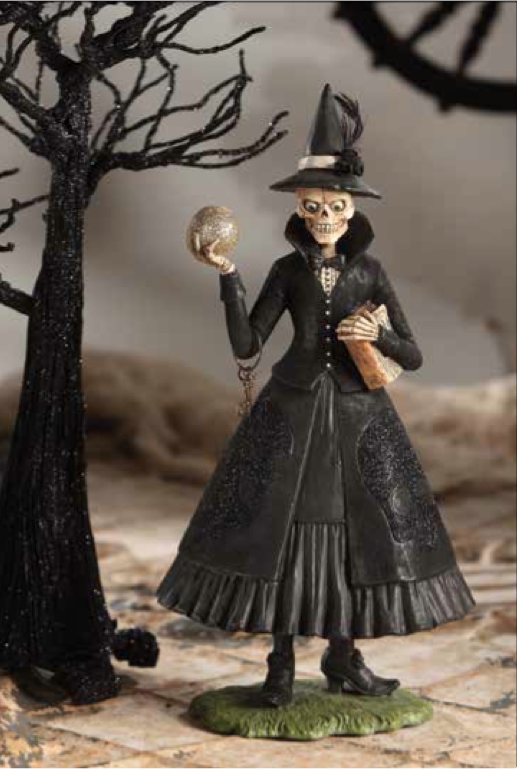 Queen of the Night Skeleton Witch by Bethany Lowe