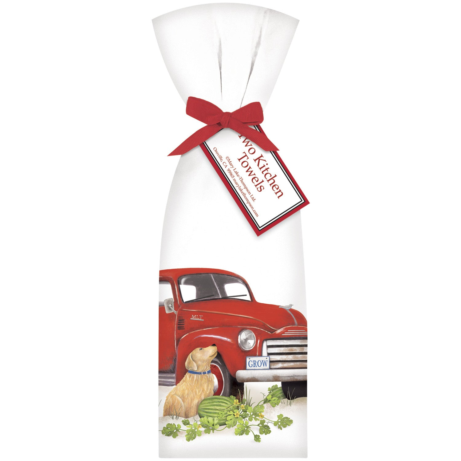 Red Truck Farm Stand Kitchen Towels