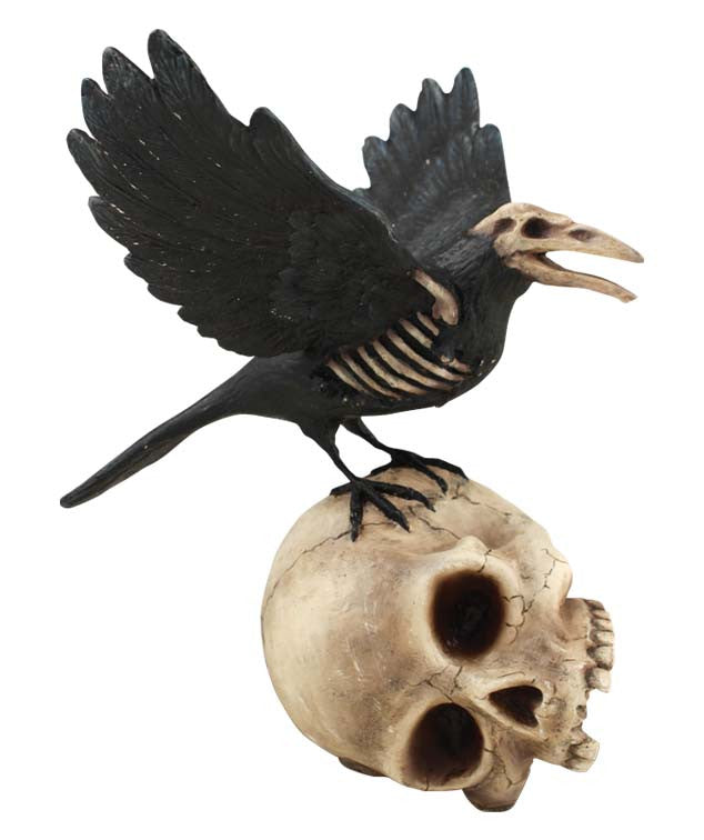 Haunted Raven On Skull Bethany Lowe