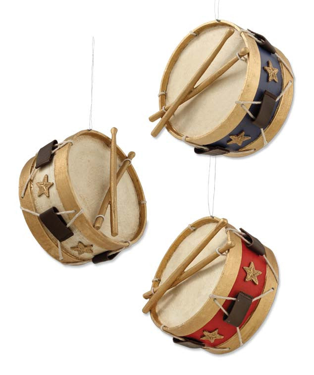 Americana Drum Ornaments - Bethany Lowe 4th of July