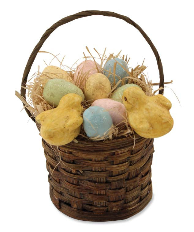 Eggs & Chicks In Basket Ornament