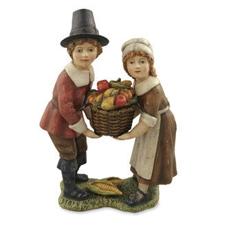 Harvest Children with Basket