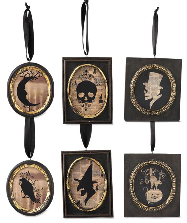 Halloween Silhouette Portrait Ornaments