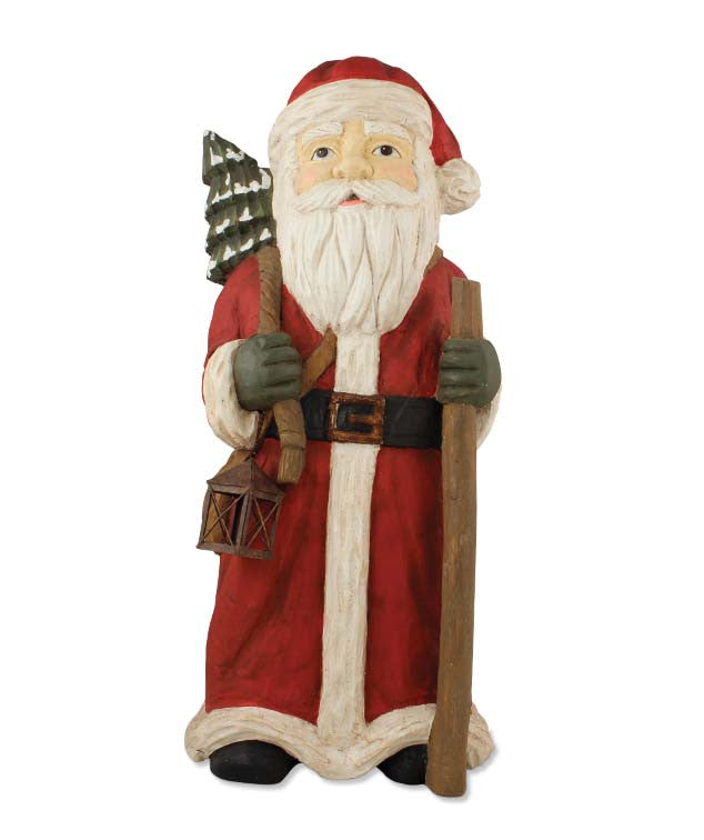 Santa With Staff Red