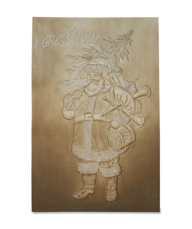 Embossed Santa Wallhanging