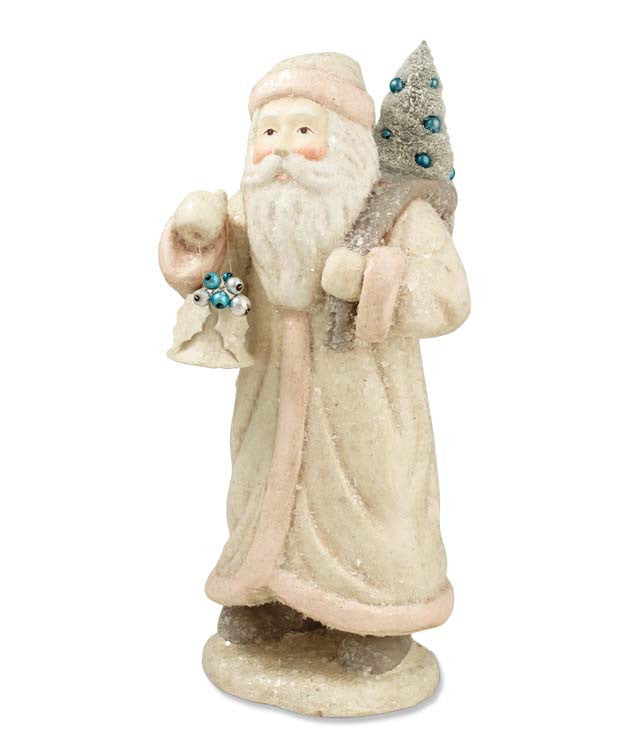 Pastel Santa With Bell