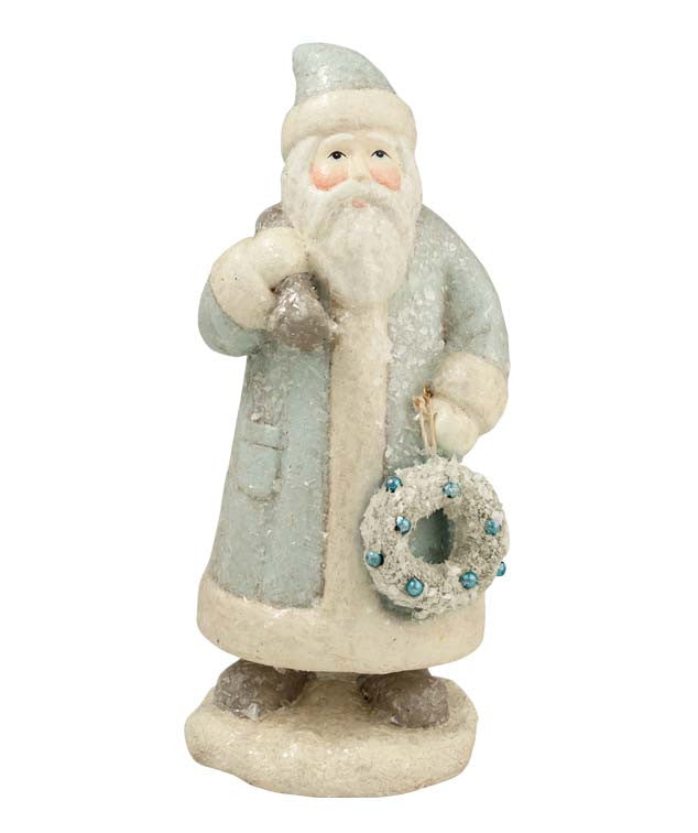 Pastel Santa with Wreath