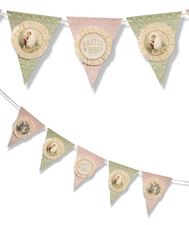 Easter Wishes Pennant Garland
