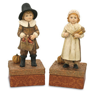 Pilgrim Boy & Girl Candy Boxes