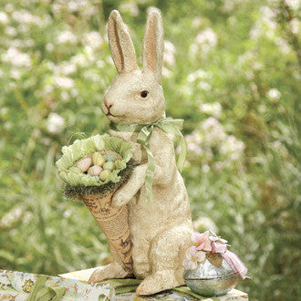 Shabby Chic Bunny with Cone