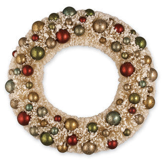 Ivory Wreath with Multi Beads