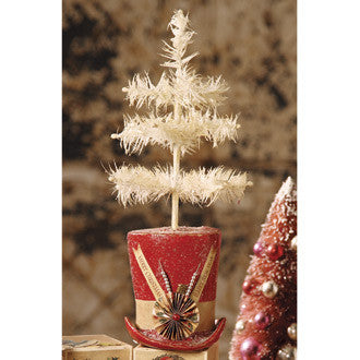 Christmas Top Hat with Feather Tree