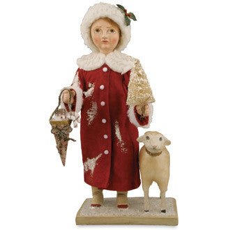 Christmas Girl with Lamb