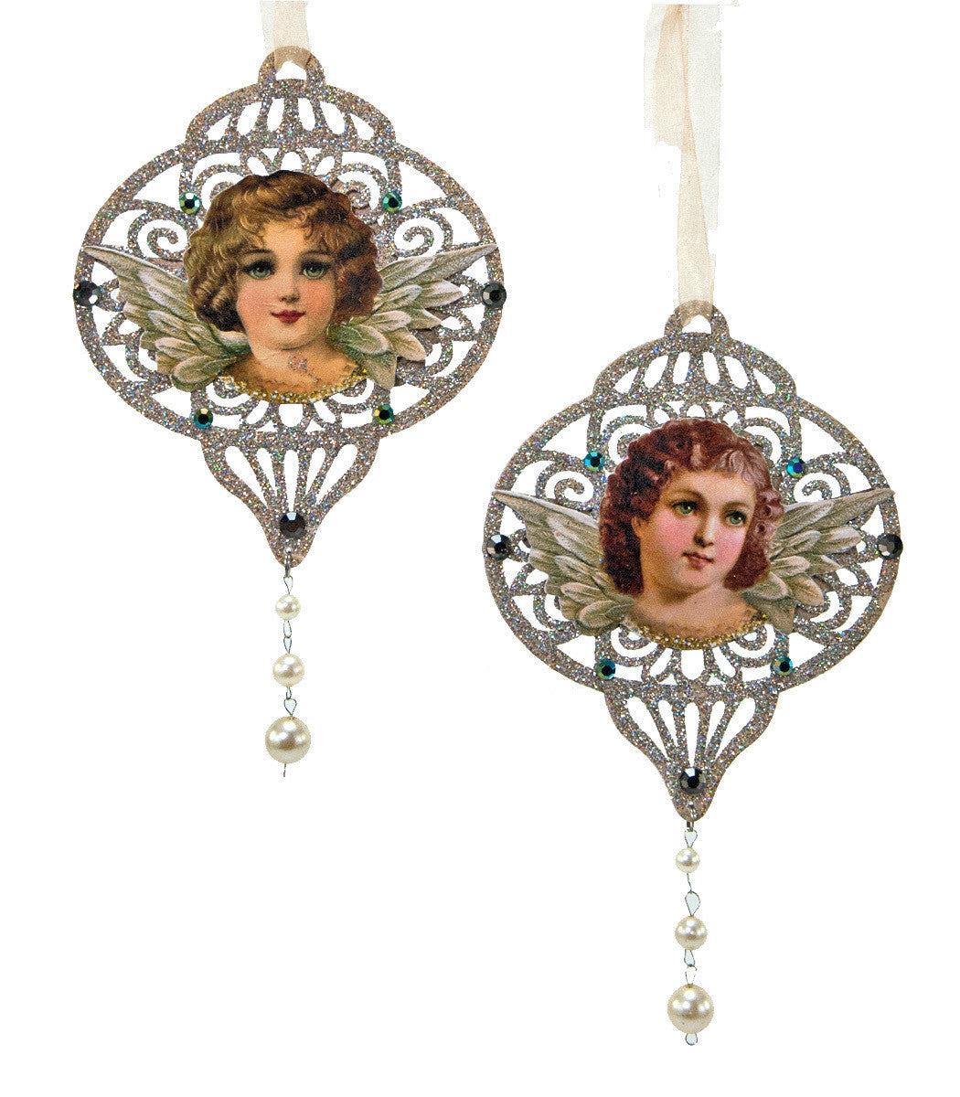 Victorian Paper Angel Ornaments