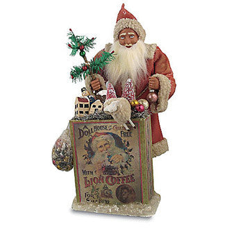 Vintage German Santa with Toys
