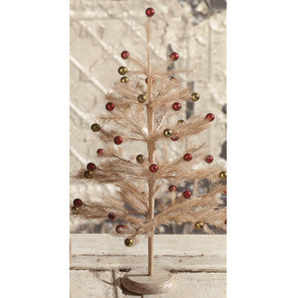 Vintage Tea Stained Retro Tree
