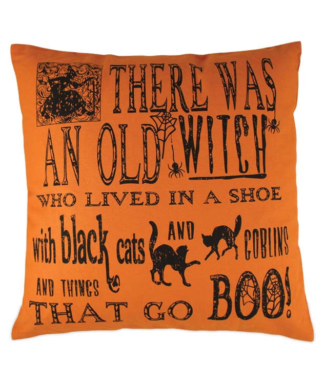 Witch Poem Pillow