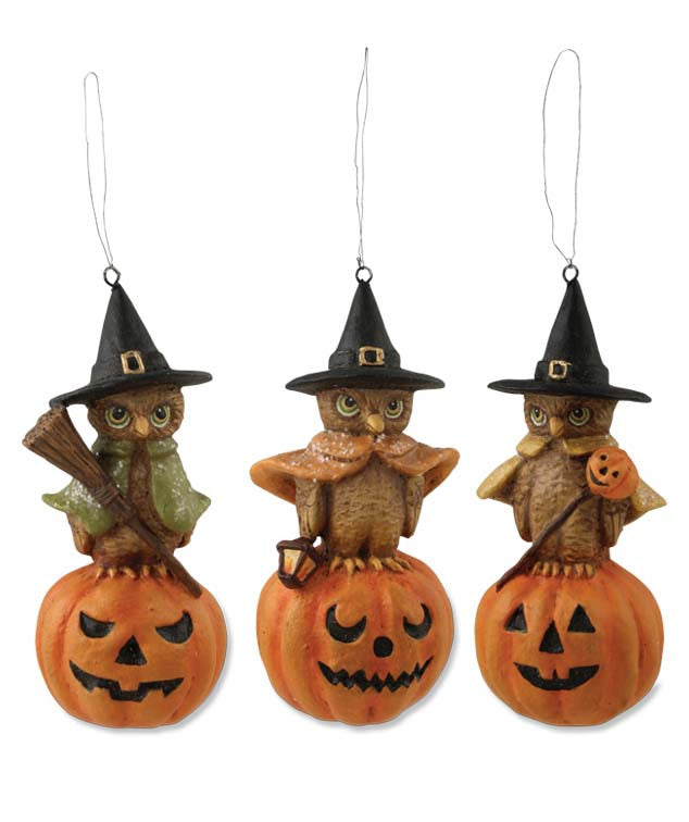 Witchy Owl Ornaments