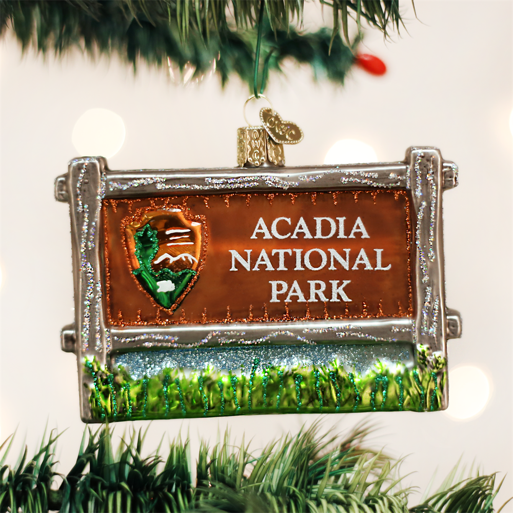 Acadia National Park Sign Ornament